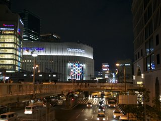 In between the Osaka and Umeda train stations