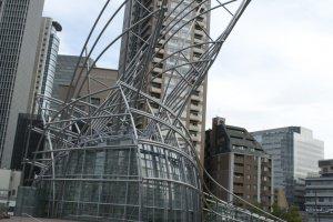The museum's impressive exterior glass design