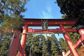 카쿄(花筐) 공원 : 오카후토(岡太) 신사의 배전