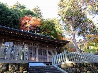 Sala do Mikoshi-Den do Santuário Okafuto na cidade de Echizen, Fukui