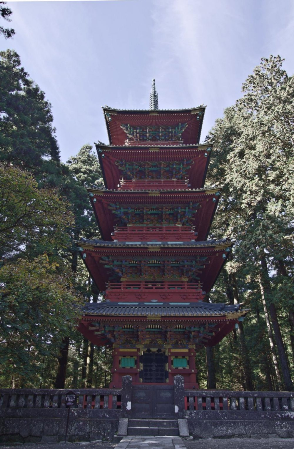 Impressive pagoda, reconstructed 1819, after the original from 1650 burned down