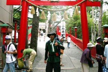 Fuji--through the gate