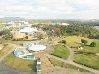 Tầm nhìn của công viên Moricoro từ buồng quan sát