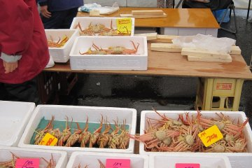 어장에서 항구가 가까운 미쿠니는 항구에 오르는 꽃게의 신선도가 높기 때문에 맛이 좋다고 평판이다