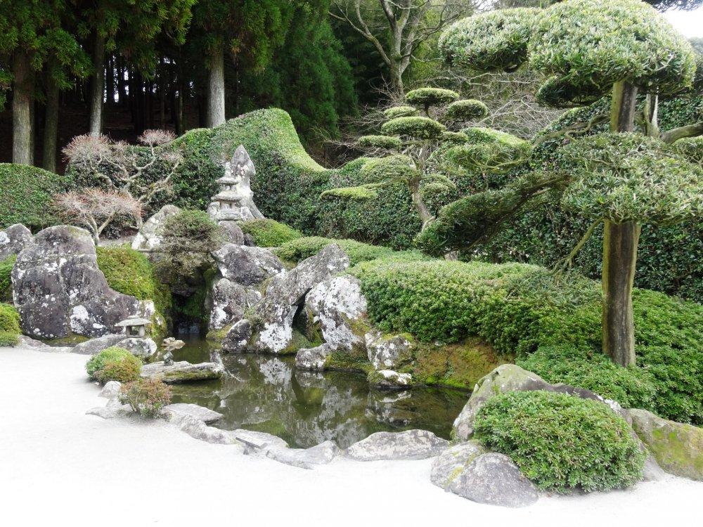 Le jardin de la famille Mori dans le quartier samouraï de Chiran