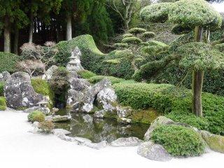 The Mori family garden in the Chiran samurai quarter
