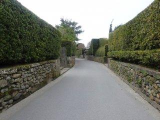 La rue principale du quartier des samouraïs