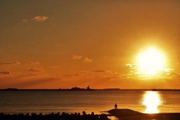 Oga Peninsula at Sunset