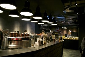 Simple but cool interior, dim lighting, good coffee and hip Jazz and Soul tunes. What else do you need to be happy?