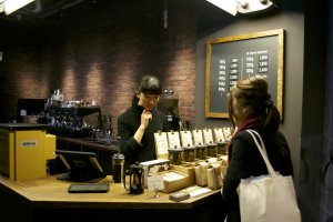 The helpful staff will guide you through the world of coffee beans