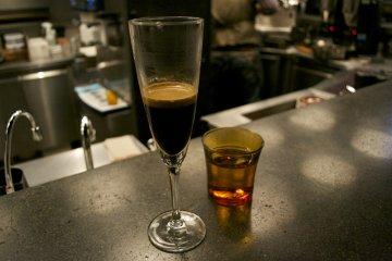 <p>Single espresso shot, for those who love a bitter taste</p>