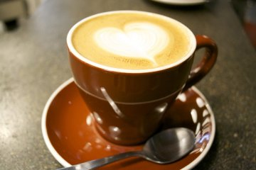 <p>Latte made with lots of love by the barista</p>