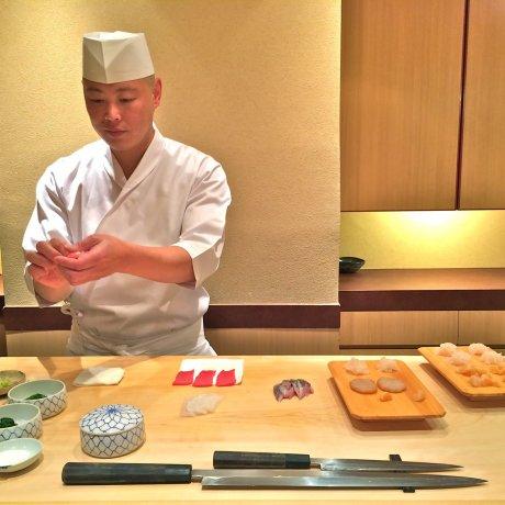 Lunch at Sushi Iwa in Ginza, Tokyo
