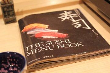 <p>Суши-меню было выложено на стойку для моего удобства</p>