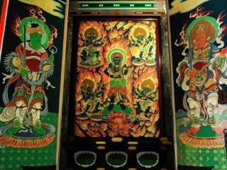 Внутри пагодыСандзё, изображение райго, задняя сторона, изображениеВидья-раджи.