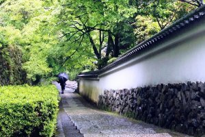 A lone pilgrim at Yoshimine-dera