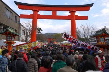 New Year stalls at Fushimi Inari