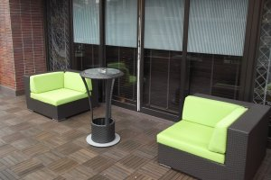 The smoking terrace