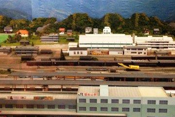 A miniature version ofFukuchiyama Railway Station.