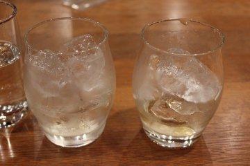 얼음도 야마사키의 명수제이므로 여기서 마실 수 있는 하이볼, 온더록, 물 썩어만들기 등은 특히 맛있다