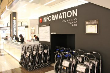 <p>The Information Desk located on 1F of Grand Mall can provide brochures printed in other languages and info on tax-free shopping for short stay visitors.</p>