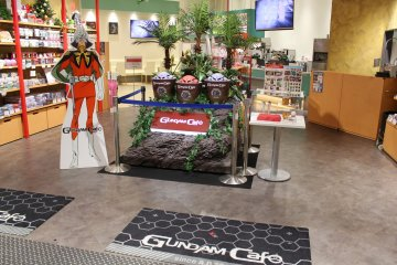 <p>Gundam Cafe is a great place to grab a bite to eat and to check out a miniature&nbsp;Gundam&nbsp;statue and souvenirs</p>