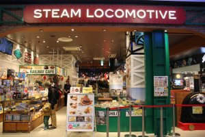 Steam Locomotive is an awesome cafe that features multiple train sets running throughout a miniature version of Tokyo City and more!