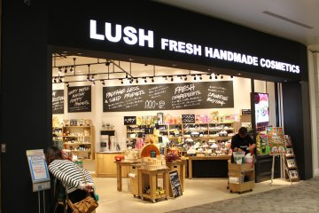 <p>Lush offers fresh handmade cosmetics. Look for the body balms and bath bombs</p>