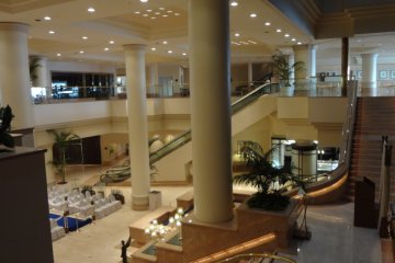 The lobby of the Intercontinental