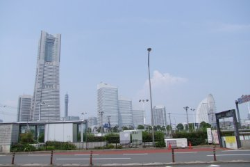 A view of all three hotels. From left to right: The Royal Park, The Pan Pacific, The Intercontinental
