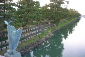 Flanked by the Ayase River in parts