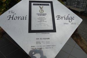The bridge was certified to be the longest wooden pedestrian bridge in the world