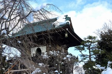 눈 화장한 쇼겐지 일본 정원