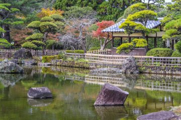 <p>This garden offers the perfect time to reflect</p>