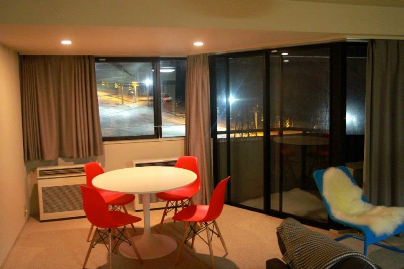 Inside One Apartment. Great Views Out To The Largest Night Skiing Area In  Japan.