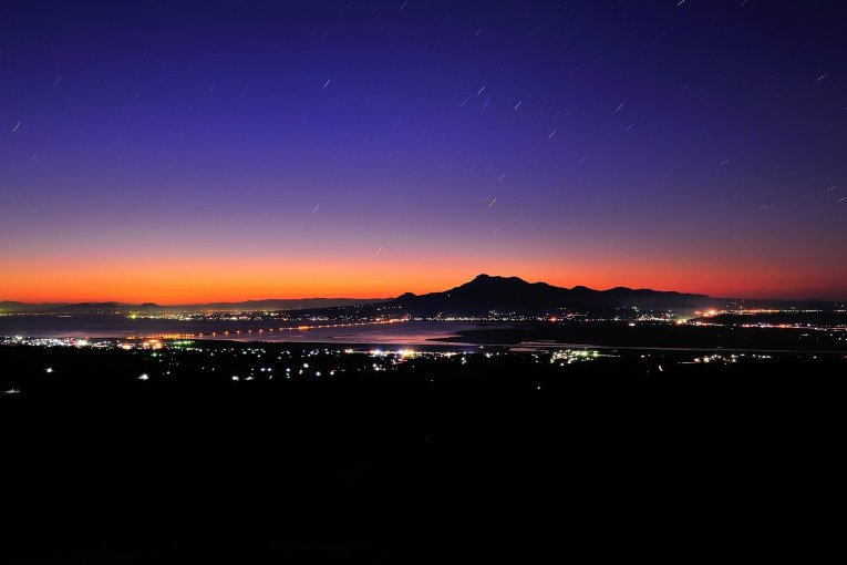 Giờ xanh của Unzen ở Nagasaki