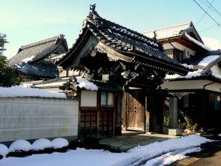 Ornate temple gate