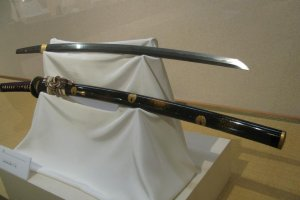 Katana displayed at Bizen Osafune Sword Museum