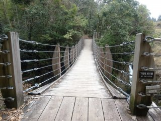 Cây cầu bắc sang bờ bên kia, mặc dù bạn không thể tiến gần tới thác nước