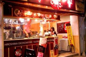 Street food: Okonomiyaki, yakisoba, takoyaki