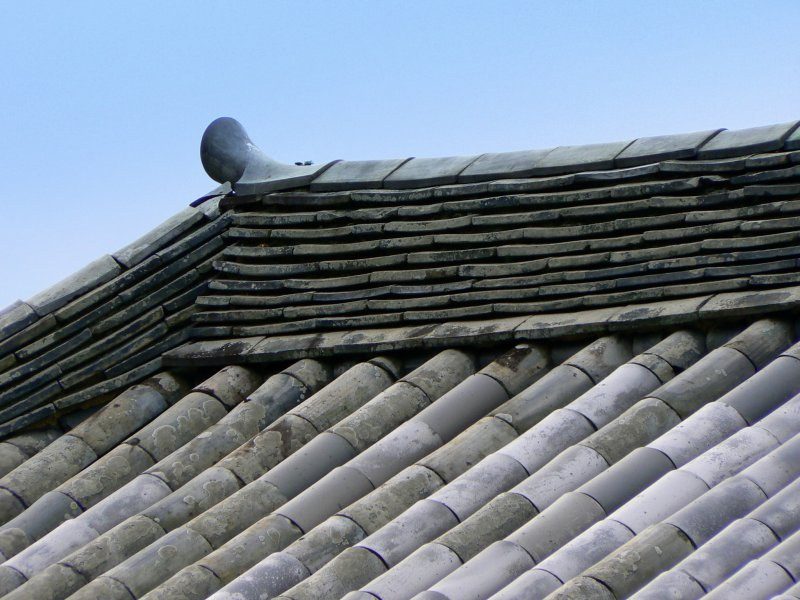 <p>Zooming in on the roof tiles</p>
