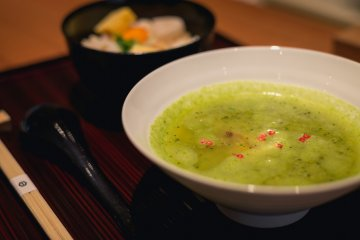 <p>The romanesco broccoli surinagashi was a wonderful mixture of texture and taste.</p>