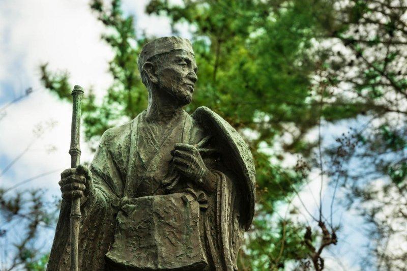 <p>The&nbsp;Matsuo Basho&nbsp;statue &#39;&#39;Mikaeri Sugata&#39;&#39; (&#39;&#39;looking back&#39;&#39;) is in&nbsp;Fudaba-gashi Park&nbsp;</p>