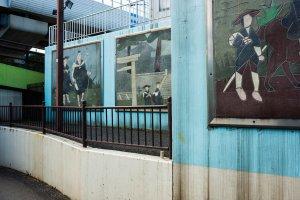 松尾芭蕉 絵タイル。おくのほそ道の旅を想像して描いたもの。