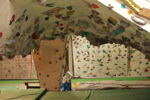 A view of the bouldering cave.