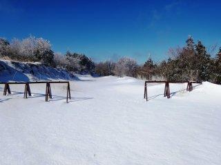 Нетронутое поле снега