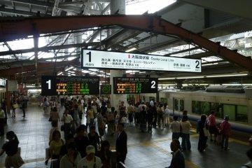 Osaka Loop Line platform
