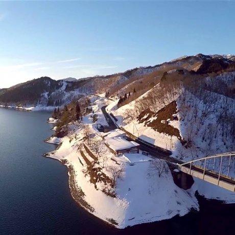 Fukui's Lake Kuzuryu in Winter