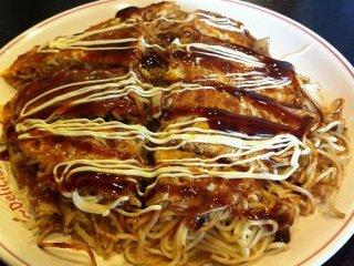 Ichiriki's plated okonomiyaki