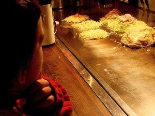 young fan of okonomiyaki